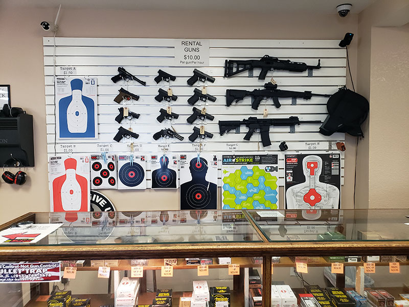 Gun Rentals at The Bullet Trap
